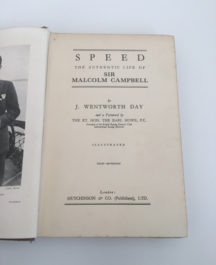 Speed, The Life of Sir Malcolm Campbell - J. Wentworth Day
