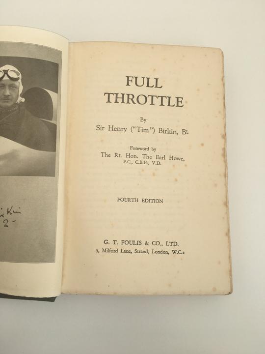 Full Throttle Sir Henry Birkin
