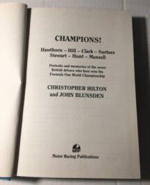 Champions! Christopher Hilton and John Blunsden