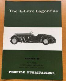 No: 29 - 4.5 litre Lagondas Profile Publications 1967