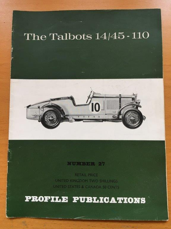 No: 27 - Talbots 14/45 - 110 Profile Publications 1967